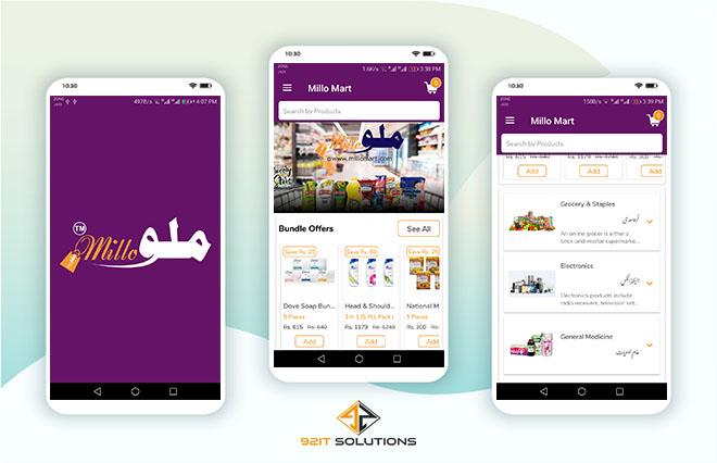 Millo Mart Online Shopping App Details | 92IT Solutions